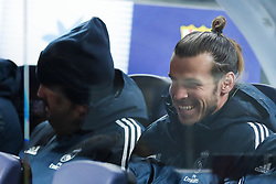 February 6, 2019 - Barcelona, Catalonia, Spain - February 6, 2019 - Camp Nou, Barcelona, Spain - Copa del Rey - FC Barcelona v Real Madrid CF; Gareth Bale of Real Madrid smiles in to the sidelines. (Credit Image: © Marc Dominguez/ZUMA Wire)