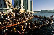 Training for the  - Dragon boats -  race on pearl river near ilha Verde -  Macau  ///  dragons boatsî entraÓnement pour la course. Macao /// R211/14    L3105  /  R00211  /  P0006587
