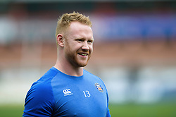 Will Hurrell of Bath Rugby looks on during the pre-match warm-up - Mandatory byline: Patrick Khachfe/JMP - 07966 386802 - 30/03/2018 - RUGBY UNION - Kingsholm Stadium - Gloucester, England - Bath Rugby v Exeter Chiefs - Anglo-Welsh Cup Final