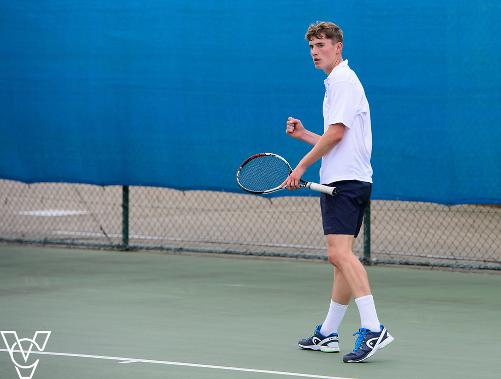 Glanville Cup - Culford School A [1] - Oscar Cutting<br /> <br /> Team Tennis Schools National Championships Finals 2017 held at Nottingham Tennis Centre.  <br /> <br /> Picture: Chris Vaughan Photography for the LTA<br /> Date: July 14, 2017