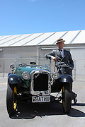 Vintage car show,  Napier, New Zealand. Austin