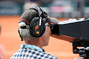 Earings of broadcasting operator illustration during the Roland Garros French Tennis Open 2018, day 9, on June 4, 2018, at the Roland Garros Stadium in Paris, France - Photo Stephane Allaman / ProSportsImages / DPPI