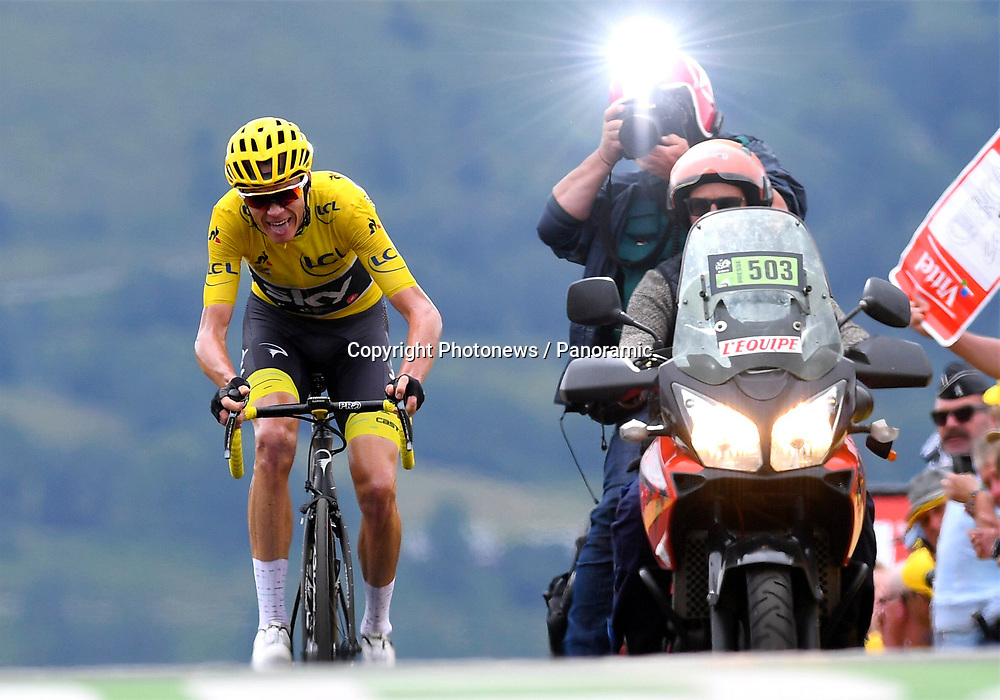 Peyragudes, France - July 13 : FROOME Christopher of Team Sky during stage 12 of the 104th edition of the 2017 Tour de France cycling race, a stage of 214.5 kms between Pau and Peyragudes on July 13, 2017 in Peyragudes, France, 13/07/2017