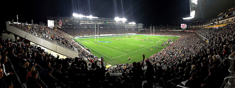 General View of Eden Park during the All Blacks vs Wales rugby match at Eden Park in Auckland on Saturday the 11th of June 2016. Copyright Photo by  www.Photosport.nz