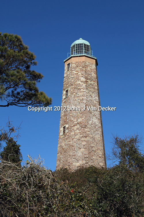 The Old Cape Henry lighthouse was one of the first public works projects authorized by the United States Congress. It was built in 1781-92 and sits at the entrance to Chesapeake Bay on the Atlantic Ocean in Virginia Beach, Va, USA