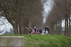 Esra Tromp of Parkhotel Valkenburg Cycling Team signals a right turn during Stage 3 of the Healthy Ageing Tour - a 154.4 km road race, between  Musselkanaal and Stadskanaal on April 7, 2017, in Groeningen, Netherlands.