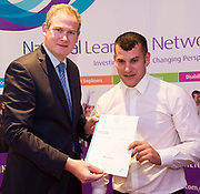 Sean Kyne TD Minister of State for Community Affairs, Natural Resources and Digital Development, presenting certificate to  Anthony Concannon with  QQI level2 in Non Verbal Communications . Photo:Andrew Downes, xposure .
