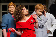 "Middletown, New York - Students from The Apprentice Players of the SUNY Orange Arts & Communications Department in a dress rehearsal of ""Death Comes to Us All, Mary Agnes"" at Orange Hall Theatre on April 17, 2014."