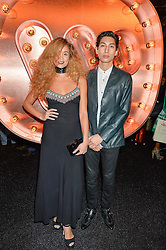 Lucas Goodman and Jillian Hervey of Lion Babe  at the Warner Music Group & Ciroc Vodka Brit Awards After Party held at The Freemason's Hall, 60 Great Queen St, London on 24th February 2016.