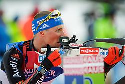 Erik Lesser (GER) during Men 10 km Sprint of the IBU Biathlon World Cup Pokljuka on December 17, 2015 in Pokljuka, Slovenia. Photo by Ziga Zupan / Sportida