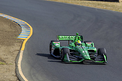 September 14, 2018 - Sonoma, California, United Stated - SPENCER PIGOT (21) of the United States takes to the track to practice for the Indycar Grand Prix of Sonoma at Sonoma Raceway in Sonoma, California. (Credit Image: © Justin R. Noe Asp Inc/ASP via ZUMA Wire)