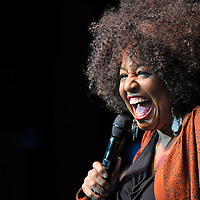 Cheryl Lynn performs on stage during the California Music Festival AIDS Walk on Sunday May 20, 2012 at The Greek Theatre in Los Angeles. (Eric Reed/AP Images for AIDS Healthcare Foundation)