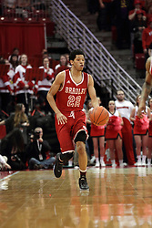 14 February 2016: Ronnie Suggs during the Illinois State Redbirds v Bradley Braves at Redbird Arena in Normal Illinois (Photo by Alan Look)