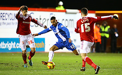 Peterborough United's Kyle Vassell scores the second goal - Photo mandatory by-line: Joe Dent/JMP - Tel: Mobile: 07966 386802 05/02/2014 - SPORT - FOOTBALL - Peterborough - London Road Stadium - Peterborough United v Swindon Town - Johnstone's Paint Trophy