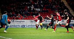 An own-goal is scored by Sunderland's Reece James (third right) after a cross from Charlton Athletic's Lyle Taylor (centre) for their first goal