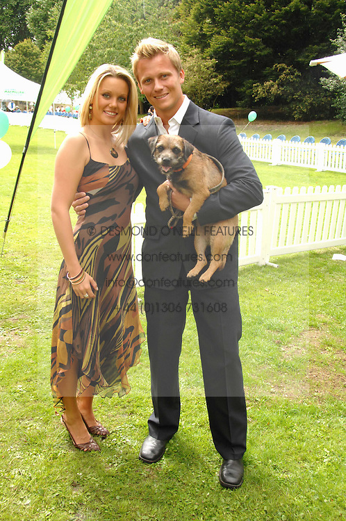 DR SCOTT MILLER and ZO CHRISTENSEN and Betty the dog at Macmillan Dog Day in aid of Macmillan Cancer Support, held at Royal Hospital Chelsea, London on 3rd July 2007.<br /><br />NON EXCLUSIVE - WORLD RIGHTS