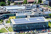 Nederland, Gelderland, Ede, 09-06-2016; Christelijke Hogeschool Ede - CHE. De daken van de nieuwbouw zijn voorzien van zonnecollectoren.<br /> <br /> aerial photo (additional fee required);<br /> copyright foto/photo Siebe Swart