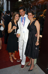 Left to right, NATHALIE LAMBERT, EDWARD TAYLOR and OLIVIA MEYRICK at a party to celebrate the re-launh of Penhaligon's at 132 Kings Road, London SW3 on 7th June 2006.<br />