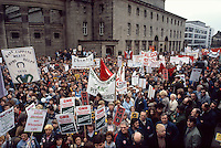 Rate-capping protest in Sheffield 1985.