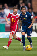 10th August 2019; Dens Park, Dundee, Scotland; SPFL Championship football, Dundee FC versus Ayr; Declan McDaid of Dundee and Alan Forrest of Ayr United