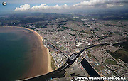 aerial photograph of Swansea Wales UK