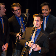 UNH all male a cappella group Not Too Sharp opens for Jay Leno at The Music Hall in Portsmouth, NH June 3, 2017