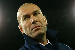 March 7, 2017 - Naples, Italy - Real Madrid's French coach Zinedine Zidane looks on before the UEFA Champions League football match SSC Napoli vs Real Madrid on March 7, 2017 at the San Paolo stadium in Naples. (Credit Image: © Matteo Ciambelli/NurPhoto via ZUMA Press)