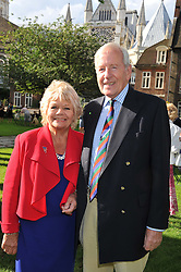 JUDITH CHALMERS and NEIL DURDEN-SMITH at The Lady Taverners 25th Anniversary Westminster Abbey Garden Party held in The College Gardens, Westminster Abbey, London o 11th July 2012.