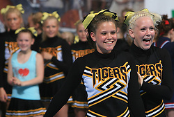 Girls of NRC Tigers Junior Elite all female placed 5th place during final ceremony at second day of European Cheerleading Championship 2008, on July 6, 2008, in Arena Tivoli, Ljubljana, Slovenia. (Photo by Vid Ponikvar / Sportal Images).