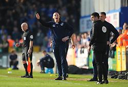 Bristol Rovers manager Graham Coughlan shows his frustration- Mandatory by-line: Nizaam Jones/JMP - 30/03/2019 - FOOTBALL - Memorial Stadium - Bristol, England - Bristol Rovers v Luton Town - Sky Bet League One