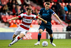 Ollie Clarke of Bristol Rovers takes on Ben Sheaf of Doncaster Rovers - Mandatory by-line: Robbie Stephenson/JMP - 19/10/2019 - FOOTBALL - The Keepmoat Stadium - Doncaster, England - Doncaster Rovers v Bristol Rovers - Sky Bet League One