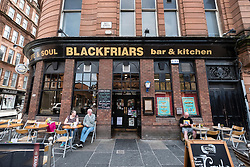 Blackfriars pub in Merchant City district of Glasgow, United Kingdom
