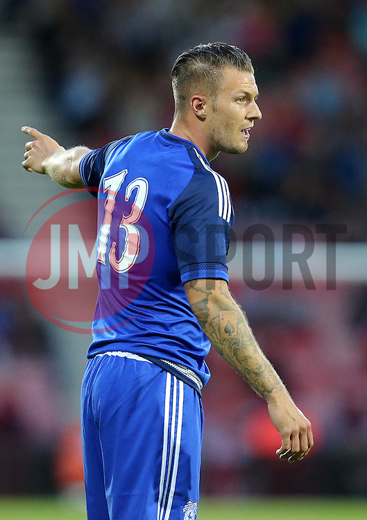 Anthony Pilkington of Cardiff City - Mandatory by-line: Paul Terry/JMP - 07966386802 - 31/07/2015 - SPORT - FOOTBALL - Bournemouth,England - Dean Court - AFC Bournemouth v Cardiff City - Pre-Season Friendly