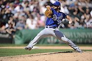 CHICAGO - MAY 13:  Tim Collins #55 of the Kansas City Royals pitches against the Chicago White Sox at U.S. Cellular Field in Chicago, Illinois.  The Royals defeated the White Sox 9-1.  (Photo by Ron Vesely)   Subject:   Tim Collins