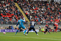 Leyton Orient's David Mooney scores a goal   - Photo mandatory by-line: Mitchell Gunn/JMP - Tel: Mobile: 07966 386802 29/09/2013 - SPORT - FOOTBALL -  Matchroom Stadium - London - Leyton Orient v Walsall - Sky Bet League One