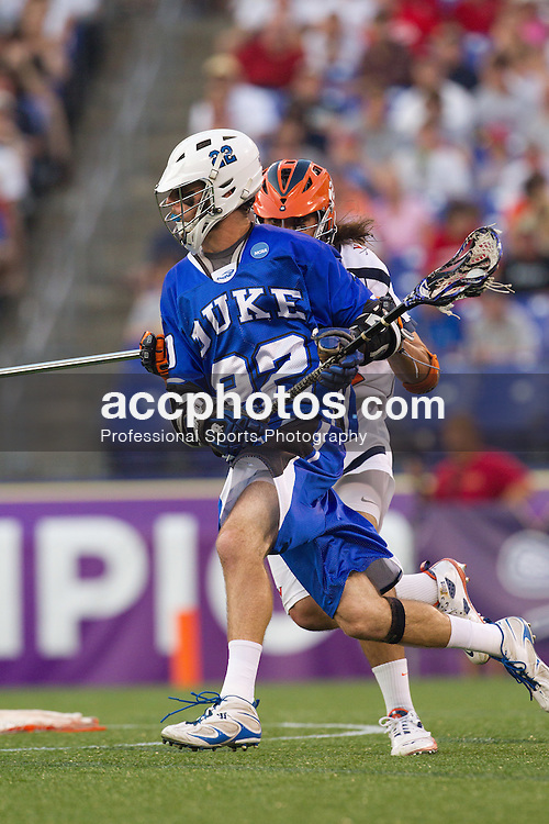 29 May 2010: Duke Blue Devils attackman Ned Crotty (22) in a 14-13 win over the Virginia Cavaliers in the NCAA semifinals at M&T Bank Stadium in Baltimore, MD.