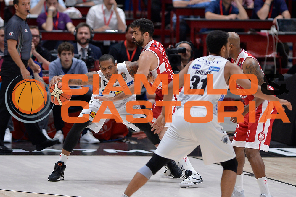 Joao Beto Gomes<br /> EA7 Emporio Armani Olimpia Milano - Dolomiti Energia Aquila Basket Trento<br /> Lega Basket Serie A, Semifinali Playoff 2016/2017<br /> Milano, 25/05/2017<br /> Foto Ciamillo-Castoria