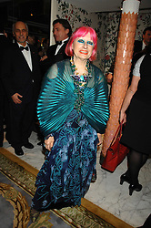 ZANDRA RHODES at the Chain of Hope Ball held at The Dorchester, Park Lane, London on 4th February 2008.<br />