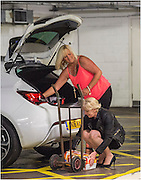 """Exclusive<br /> <br /> Fake Lotto woman Susanne Hinte unloads drink from her brand new car fat hotel car park (note she is parked in disabled parking space) at  Malmaison hotel in Birmingham,<br /> according to one hotel staff member she had booked the hotel with a select group of friends after she was due in court for the verdict of her trial for theft, staff member who does not want to be named said """"none of us know what Ms Hinte was celebrating last night"""" her court case according to the hotel was put back but as she had paid out for the hire it still went ahead, Prince and Beyonce have all stayed at this exclusive hotel in Birmingham.<br /> ©JS/Exclusivepix Media"""