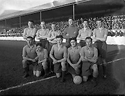 03/01/1954<br /> 01/03/1954<br /> 03 January 1954<br /> Soccer: Waterford F.C. v Drumcondra F.C., League of Ireland, at Tolka Park, Dublin. The Drumcondra Team.