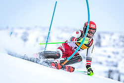 17.02.2019, Aare, SWE, FIS Weltmeisterschaften Ski Alpin, Slalom, Herren, 1. Lauf, im Bild Christian Hirschbuehl (AUT) // Christian Hirschbuehl of Austria in action during his 1st run of men's Slalom of FIS Ski World Championships 2019. Aare, Sweden on 2019/02/17. EXPA Pictures © 2019, PhotoCredit: EXPA/ Dominik Angerer
