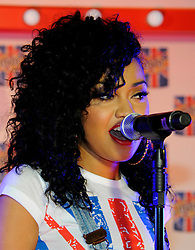 Leigh-Anne Pinnock of Little Mix Perform at the M&M Store, Leicester square, London. Thursday May 24, 2012. Photo By Chris Josepth/i-Images