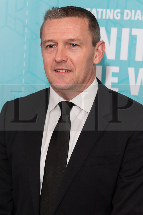 © Licensed to London News Pictures. 17/11/2017.  London, UK. ALDY BOOTHROYD attends the Football For Peace Inaugural Ball held at Guildhall. Photo credit: Ray Tang/LNP