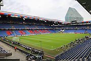 The empty stadium before the Europa League Final match between Liverpool and Sevilla at St Jakob-Park, Basel, Switzerland on 18 May 2016. Photo by Phil Duncan.
