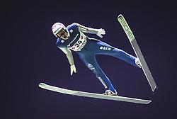 29.09.2018, Energie AG Skisprung Arena, Hinzenbach, AUT, FIS Ski Sprung, Sommer Grand Prix, Hinzenbach, im Bild Gregor Deschwanden (SUI) // Gregor Deschwanden of Switzerland during FIS Ski Jumping Summer Grand Prix at the Energie AG Skisprung Arena, Hinzenbach, Austria on 2018/09/29. EXPA Pictures © 2018, PhotoCredit: EXPA/ JFK