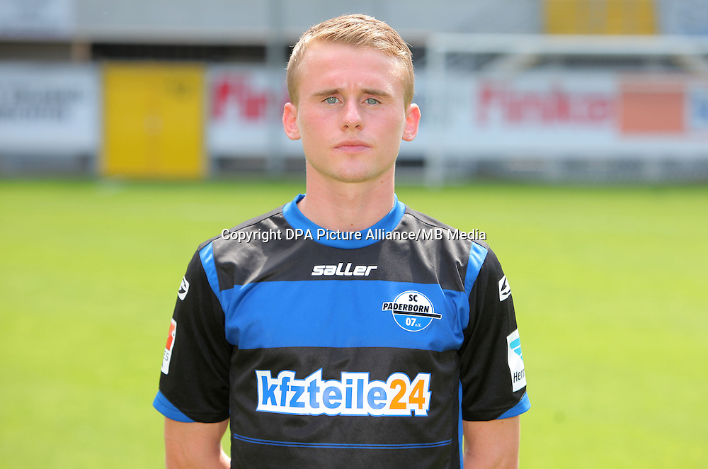 German Soccer Bundesliga - Photocall SC Paderborn on 04 July 2014 in Paderborn, Germany: Viktor Maier.
