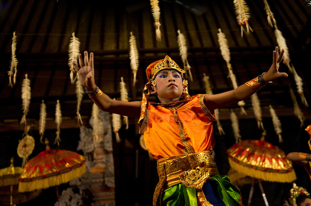 Balinese dance, Kuningan Festival, Mas, Bali, Indonesia