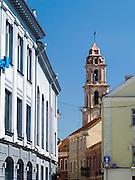 View down Saviciaus Gatve, Senamiestyje/Old Town, Vilnius, Lithuania