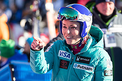 20.01.2018, Olympia delle Tofane, Cortina d Ampezzo, ITA, FIS Weltcup Ski Alpin, Abfahrt, Damen, im Bild Lindsey Vonn (USA) // Lindsey Vonn of the USA reacts after ladie' s downhill of the Cortina FIS Ski Alpine World Cup at the Olympia delle Tofane course in Cortina d Ampezzo, Italy on 2018/01/20. EXPA Pictures © 2018, PhotoCredit: EXPA/ Dominik Angerer