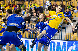 Jaka Malus of Celje during handball match between RK Celje Pivovarna Lasko and RK Zagreb PPD in Round #13 of SEHA Gazprom League 2017/18, on February 4, 2018 in Arena Zlatorog, Celje, Slovenia. Photo by Vid Ponikvar / Sportida